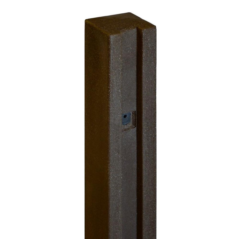 5 in. x 5 in. x 8-1/2 ft. Dark/Walnut Brown Composite Fence Gate Post