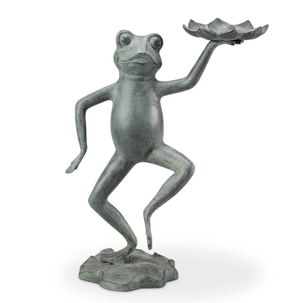Dancing Frog With Lilypad Bird Feeder