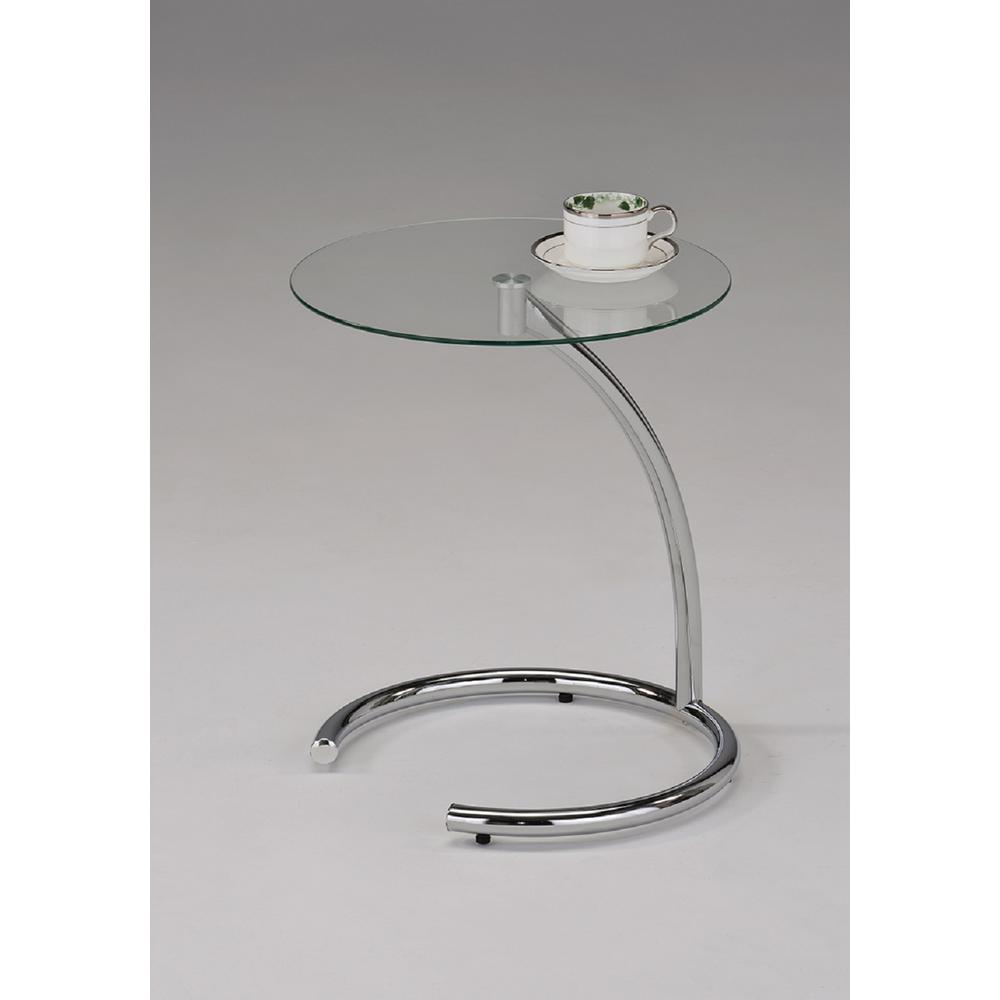 Kings Brand Furniture Modern Chrome And Glass End Table 8631 Rs