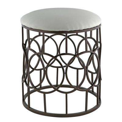 Reign 15.5 in. x 19.75 in. Stool in bronze