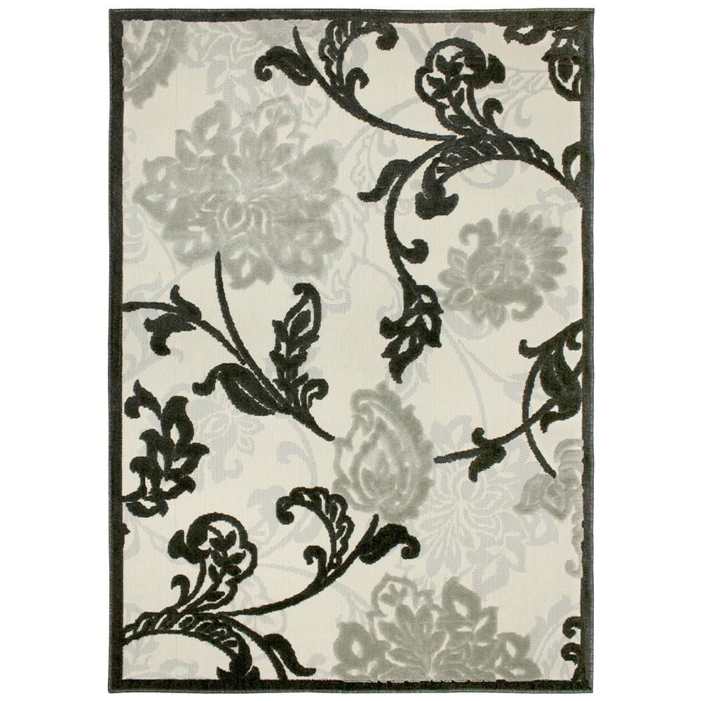 Structure Floral Silver Grey 7 ft. x 11 ft. Indoor/Outdoor Area