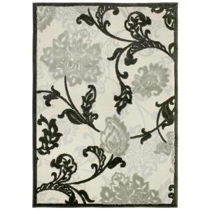 Hampton Bay Structure Floral Silver Grey 7 Ft 5 In X 10