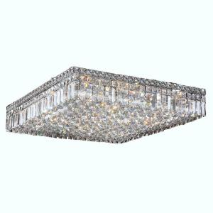Worldwide Lighting Cascade Collection 13 Light Chrome and Crystal Ceiling Light by Worldwide Lighting
