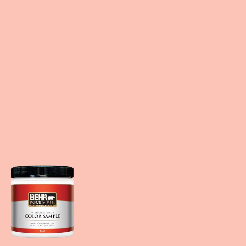 BEHR Premium Plus 8 oz. #190A-3 Salmon Peach Interior/Exterior Paint Sample