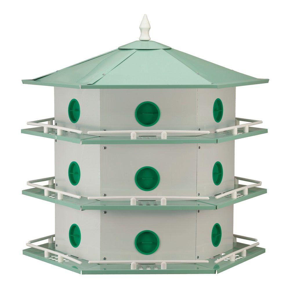 18 Room Deluxe Aluminum Purple Martin House