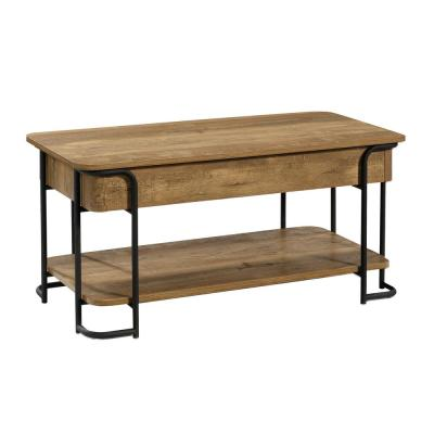 Station House 18.11 in. Etched Oak Lift-Top Engineered Wood Coffee Table
