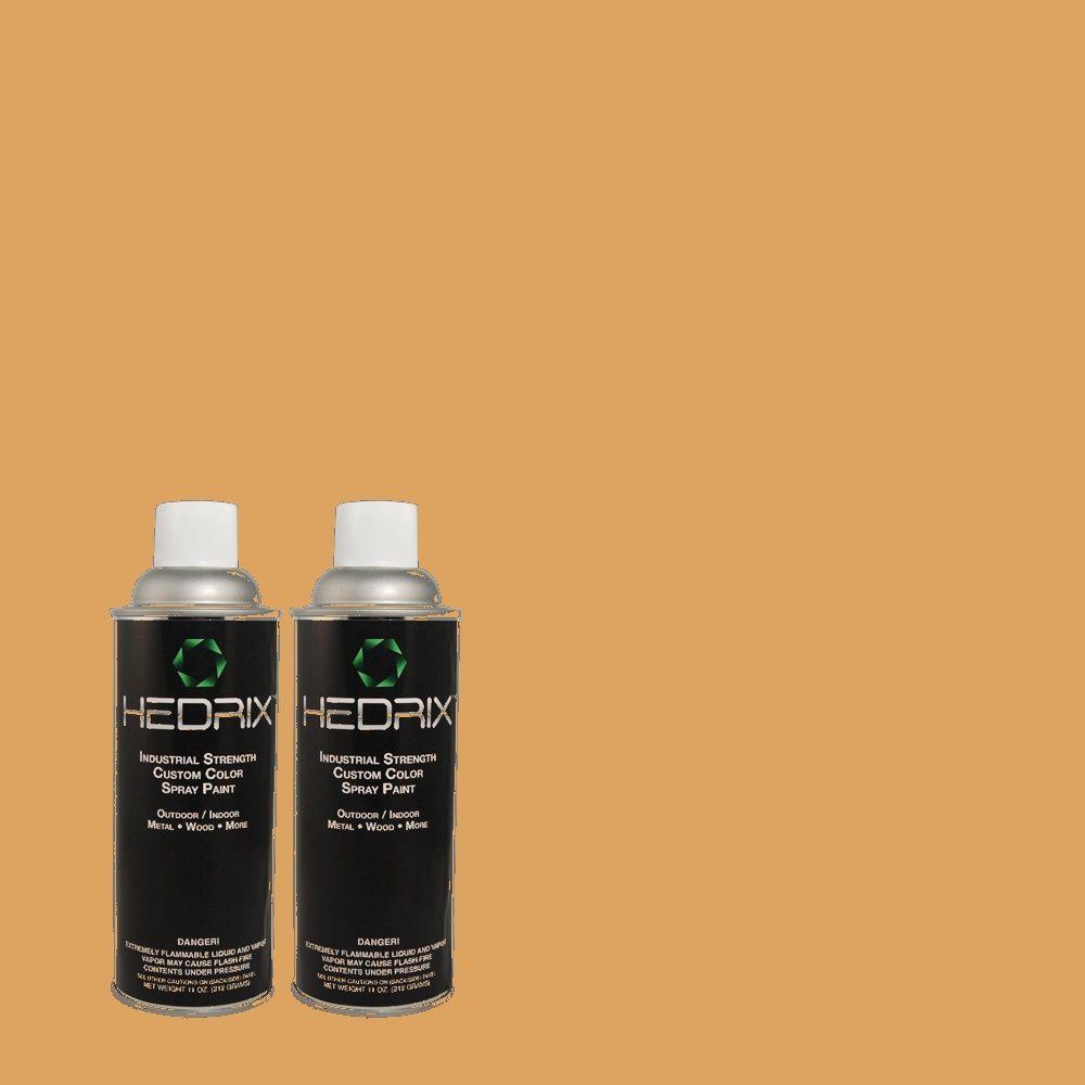 Hedrix 11 oz. Match of 300D-5 Desert Caravan Flat Custom Spray Paint (2-Pack)