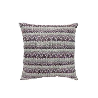 Lindy 22 in. Contemporary Throw Pillow in Purple (Pack of 2)