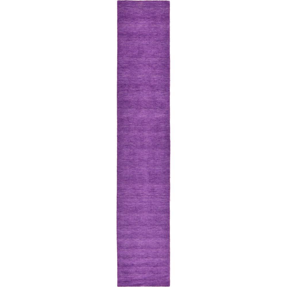 Solid Gava Solid Purple 2' 7 x 16' 5 Runner Rug