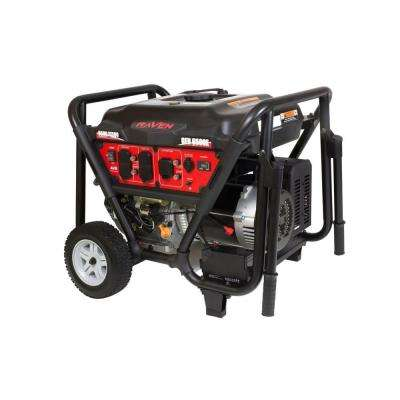 6500-Watt Gasoline Powered Electric Start Generator with Wheel Kit