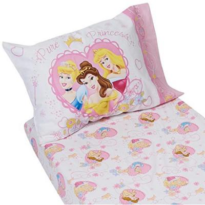Princess Castle Dreams 2-Piece Super Soft Fitted Toddler Sheet and Pillowcase Set - Pink, Yellow and Blue