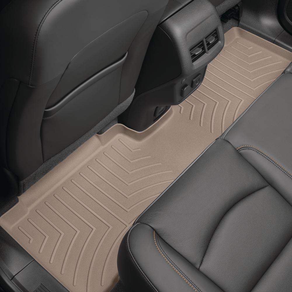 WeatherTech Tan/Rear FloorLiner/Toyota/Sienna/2011 +/Covers 2nd and 3rd row foot areas, with 2nd row console requires trim marked on -  453004