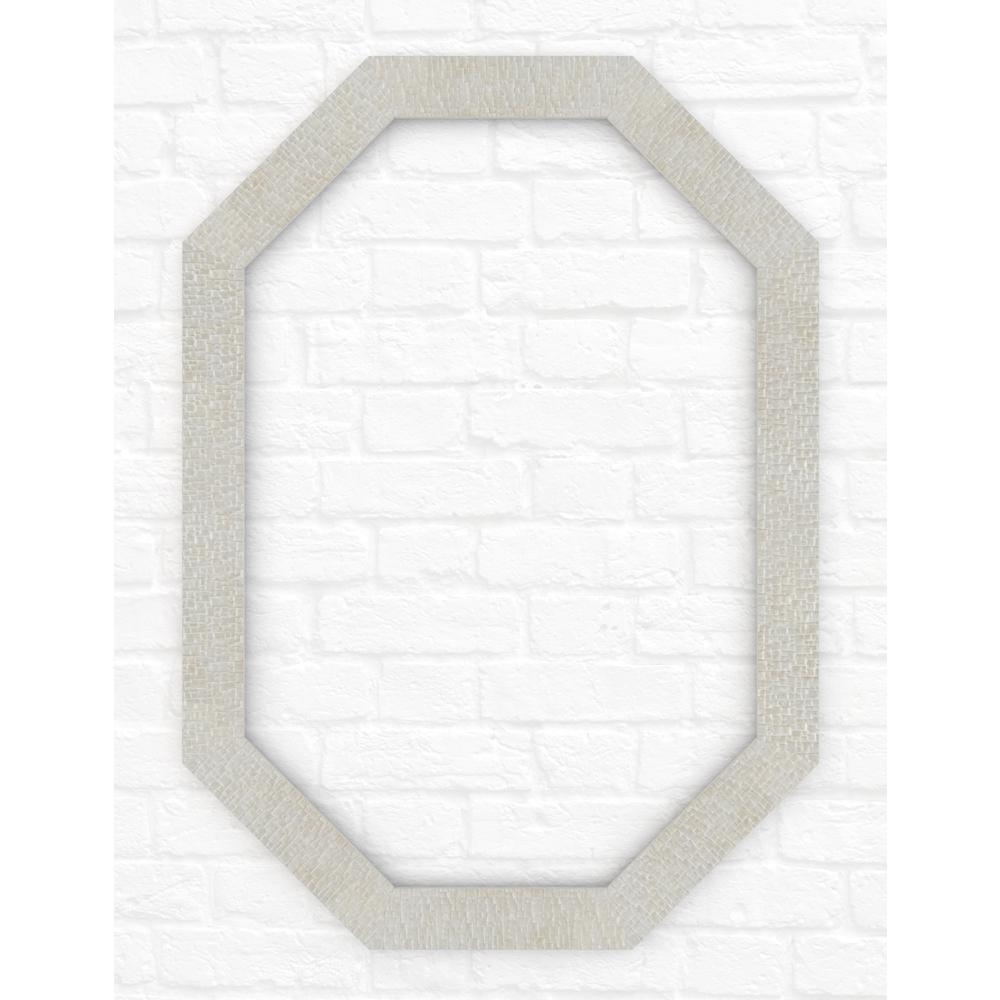 Delta 33 in. x 46 in. (L3) Octagonal Mirror Frame in Stone Mosaic ...