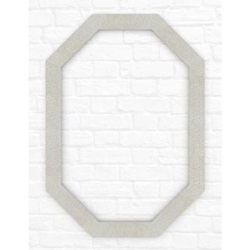 33 in. x 46 in. (L3) Octagonal Mirror Frame in Stone Mosaic