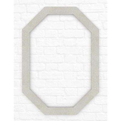 33 in. x 46 in. (L3) Octagonal Mirror Frame in Stone Mosaic
