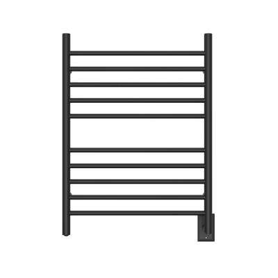 Radiant 10-Bar Hardwired Towel Warmer in Matte Black