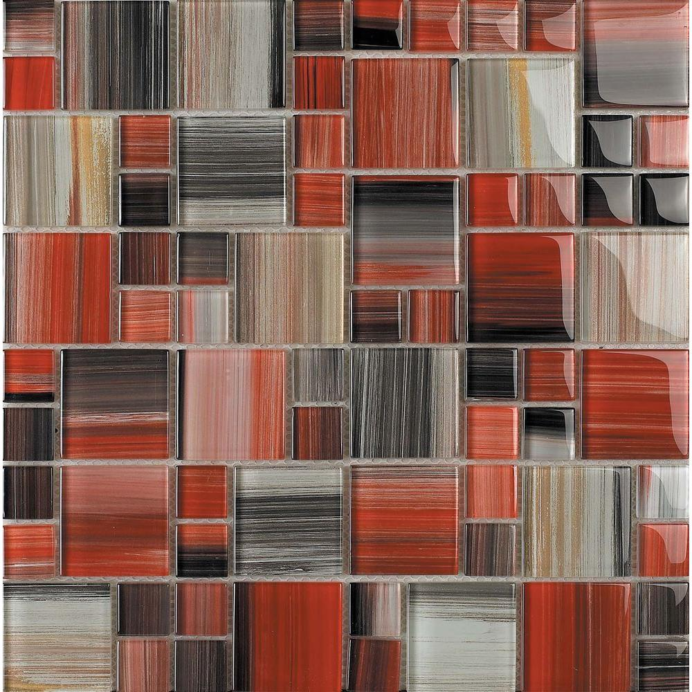 Epoch Architectural Surfaces Contempo Abbott-1675 Mosaic Glass 12 in. x 12 in. Mesh Mounted Tile (5 sq. ft. / case)