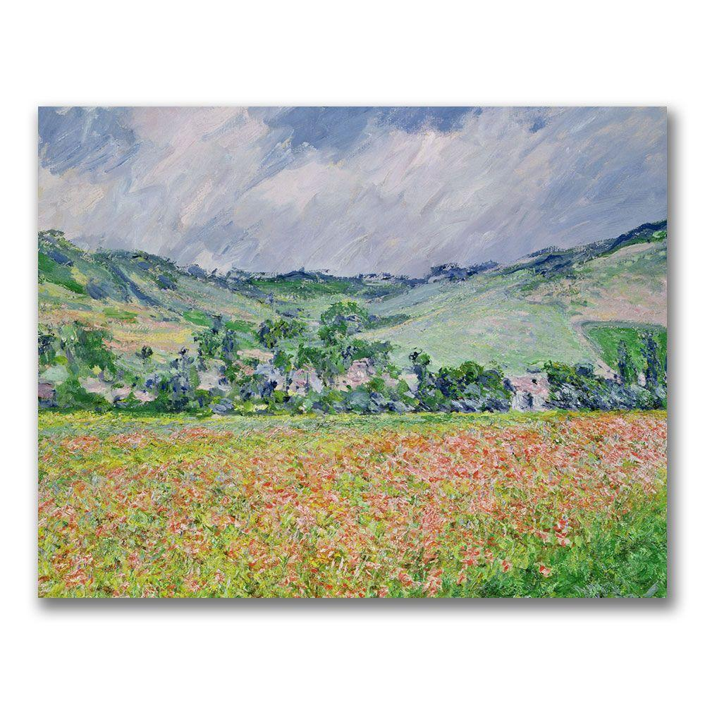 18 in. x 24 in. The Poppy Field Near Giverny Canvas