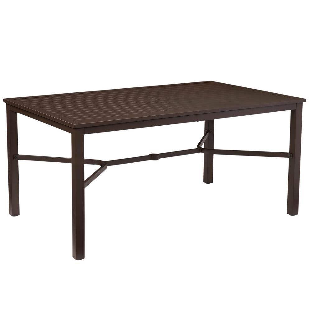 Good Mix And Match Rectangular Metal Outdoor Dining Table FTS70660C   The Home  Depot