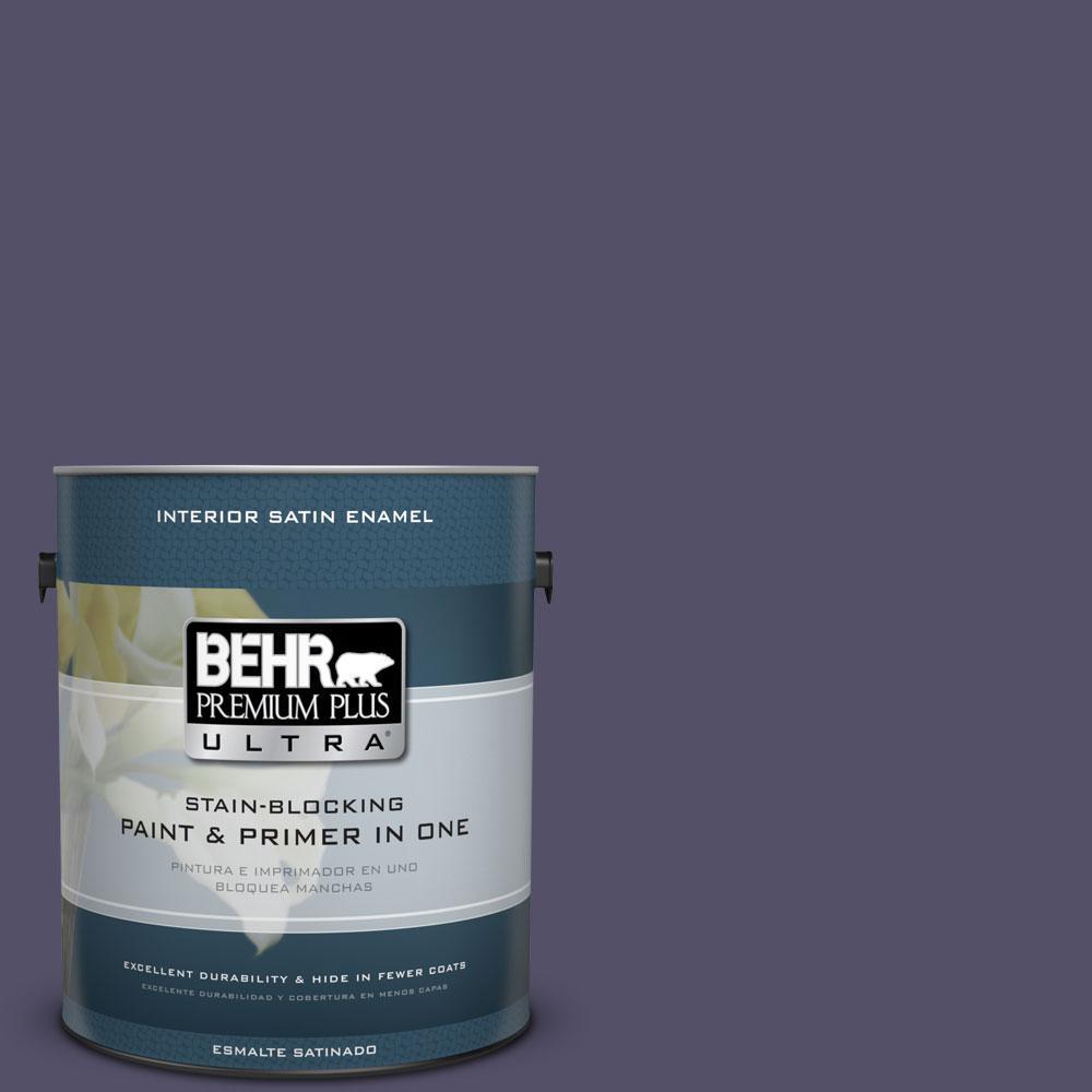 BEHR Premium Plus Ultra 1-Gal. #PPU16-19 Mardi Gras Satin Enamel Interior Paint