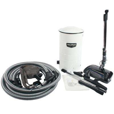 BL38 Central Vacuum with Electric Power Head and Attachment Kit with Universal Pigtail Hose