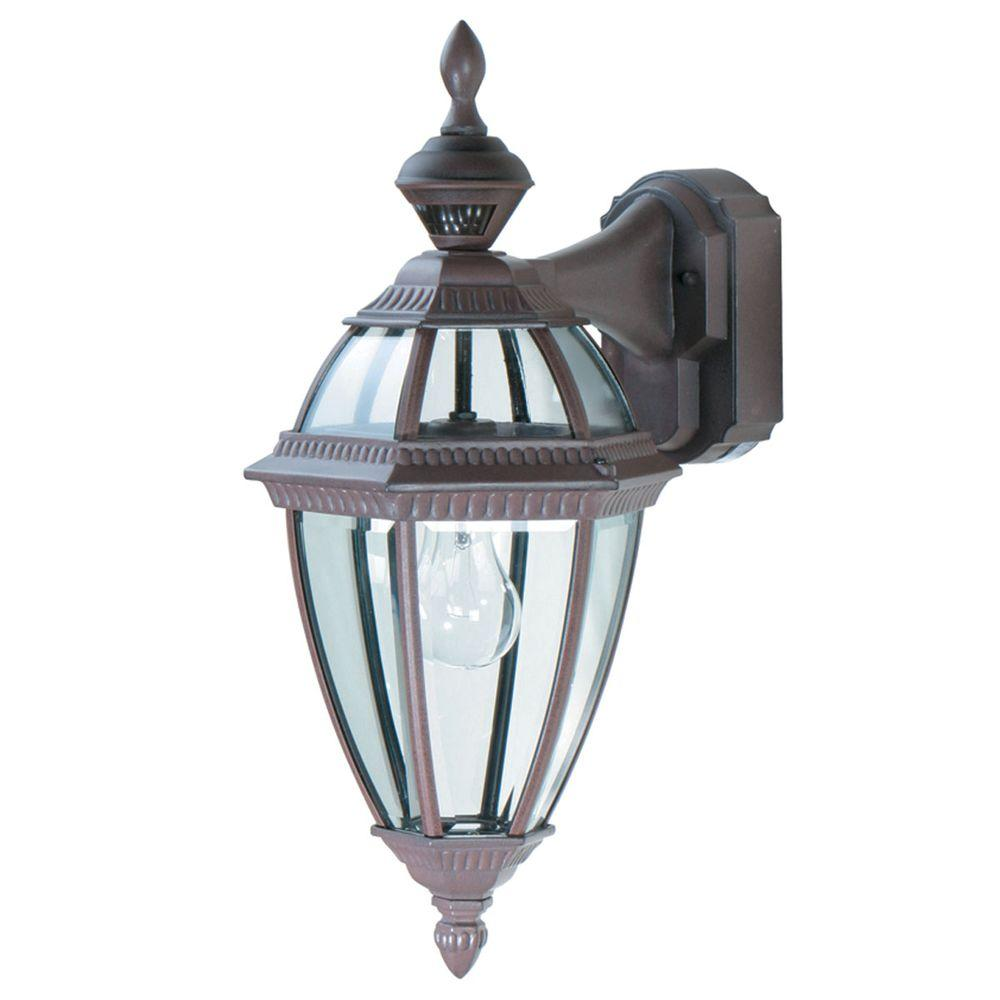Heath Zenith 150 Degree Heritage Motion Sensing Decorative Lantern - Rust-DISCONTINUED