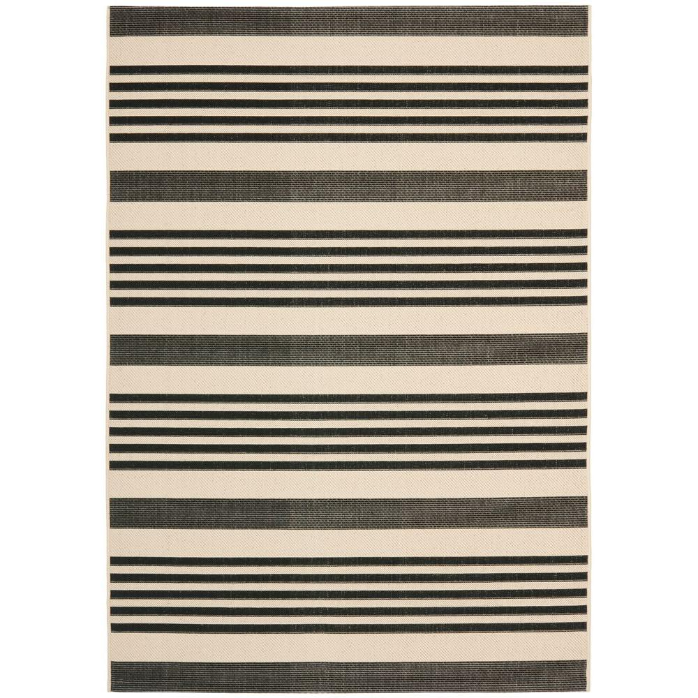 nantucket bersama rug black and striped recycled white en