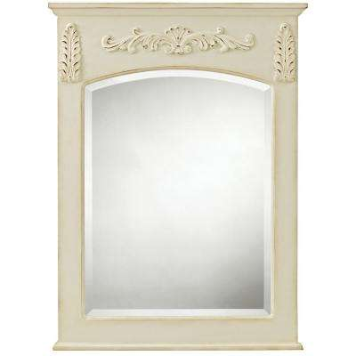 Chelsea 26 in. W x 35 in. L Framed Wall Mirror in Antique White
