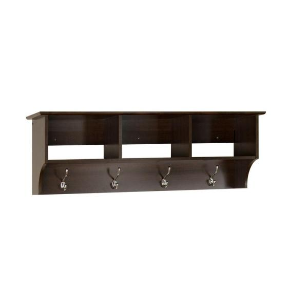 Fremont Wall-Mounted Coat Rack in Espresso
