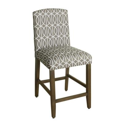 Finley Curvedless 24 in. Gray Bar Stool