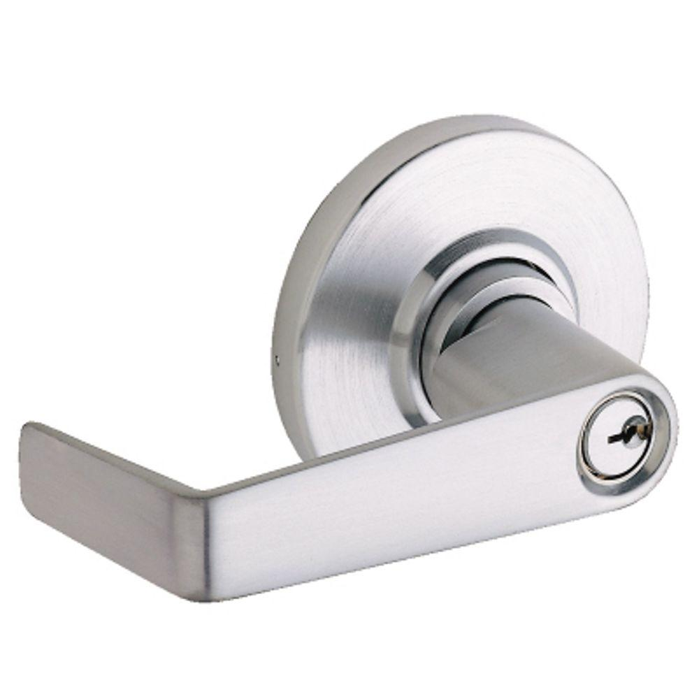 Schlage Saturn Satin Chrome Medium Duty Commercial Storeroom Door ...