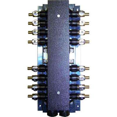 16-Port PEX Manifold with 1/2 in. Brass Ball Valves