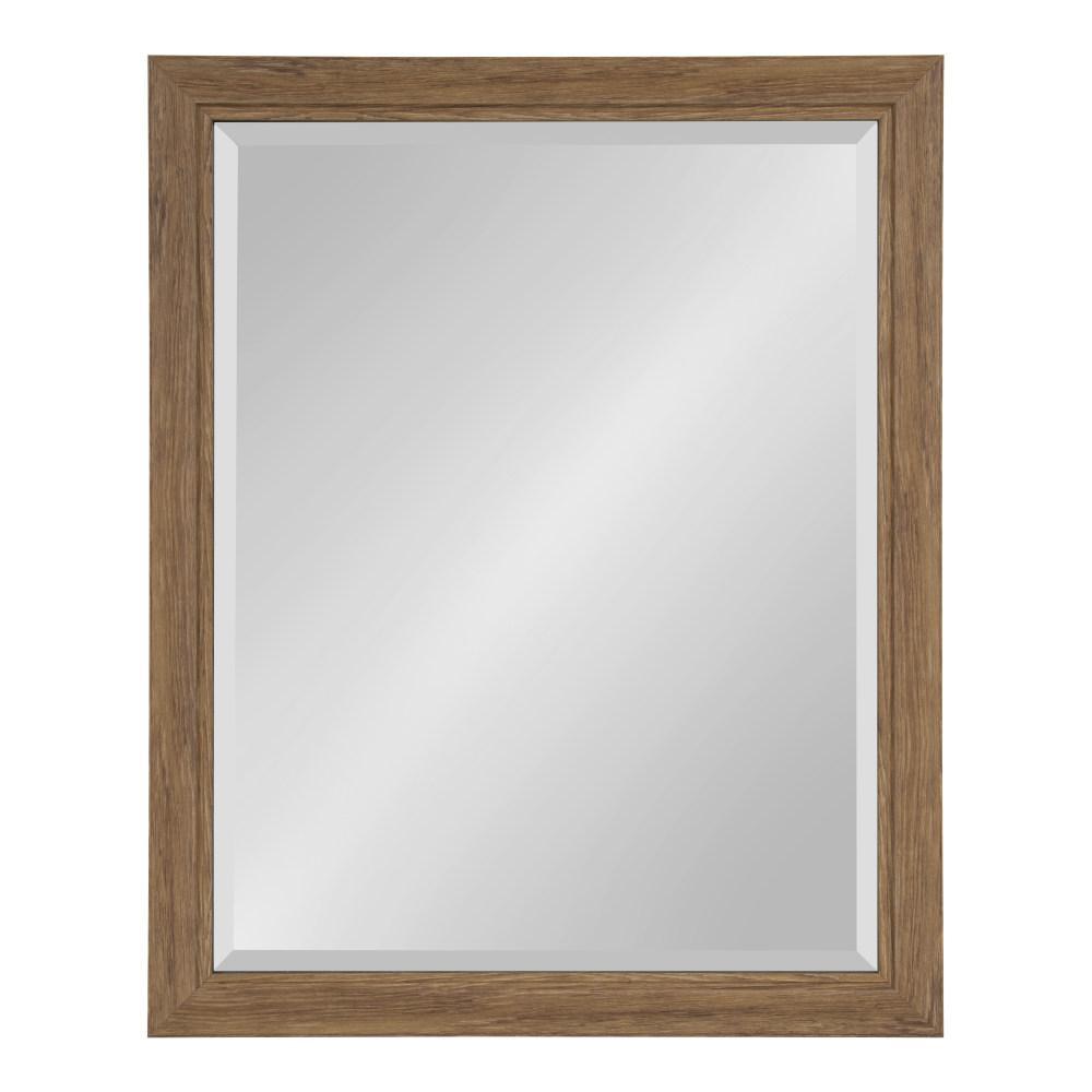 Dalat 26 in. x 32 in. Rectangle Brown Wall Mirror