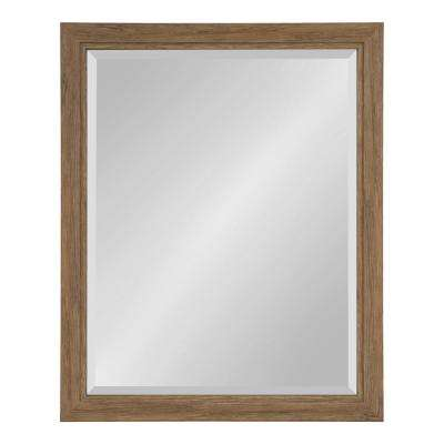 Dalat 26 in. x 32 in. Rectangle Brown Wall Mirror