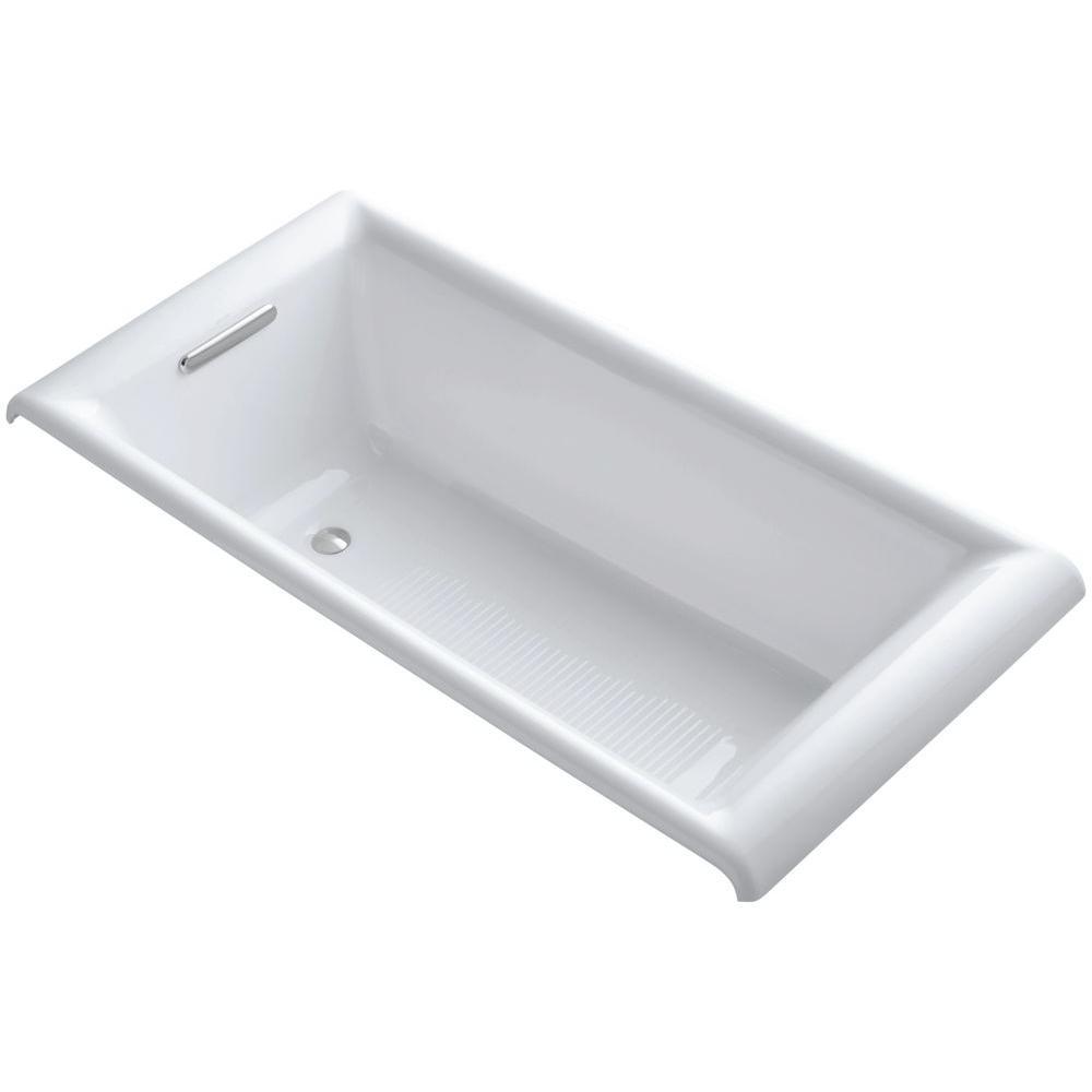 Parity 5.5 ft. Reversible Drain Bathtub in White