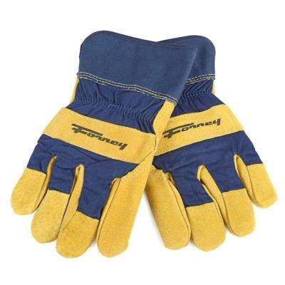 Lined Premium Pigskin Leather Palm Gloves (Men's L)