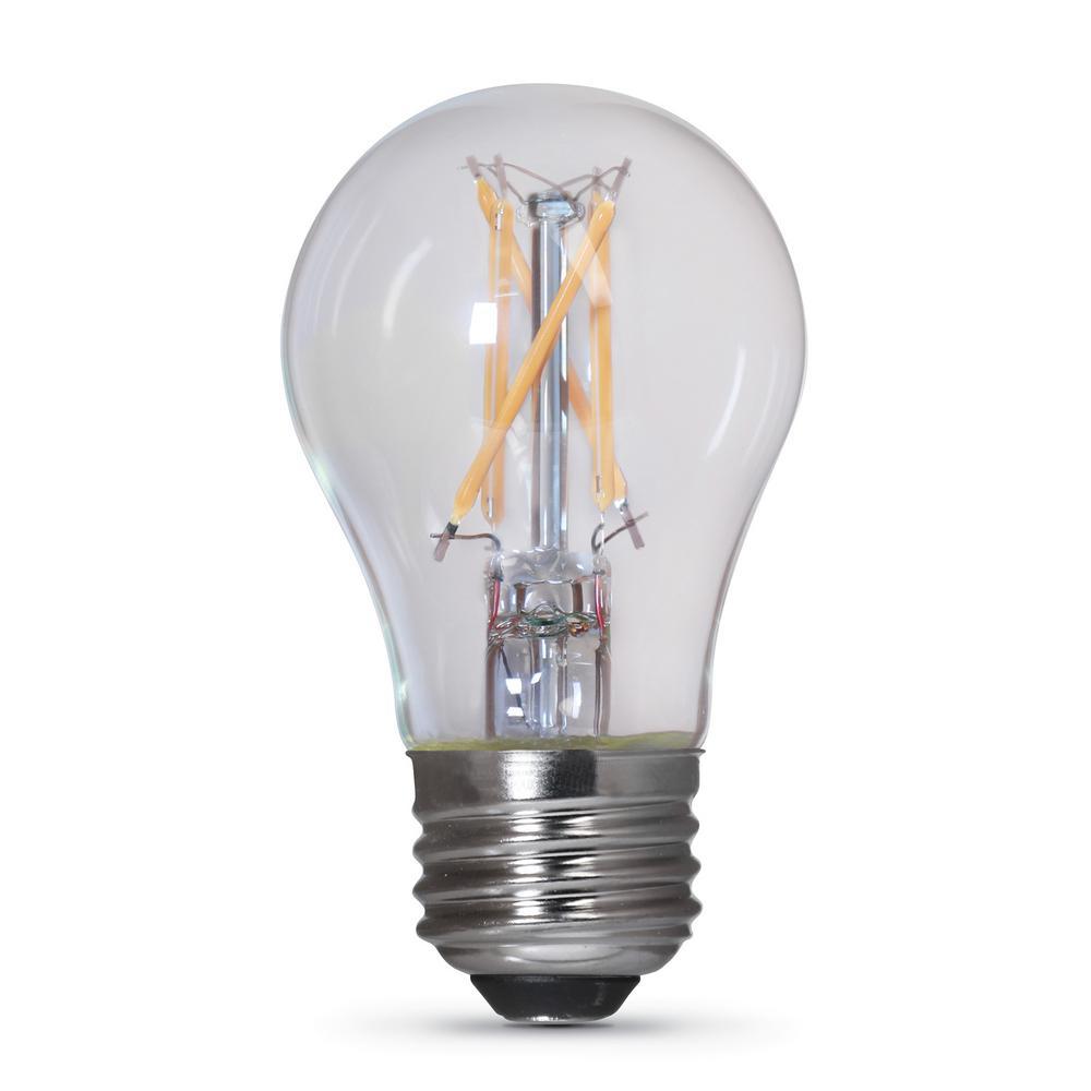 40-Watt Equivalent Soft White (2700K) A15 Clear Glass E26 Base Refrigerator LED Light Bulb