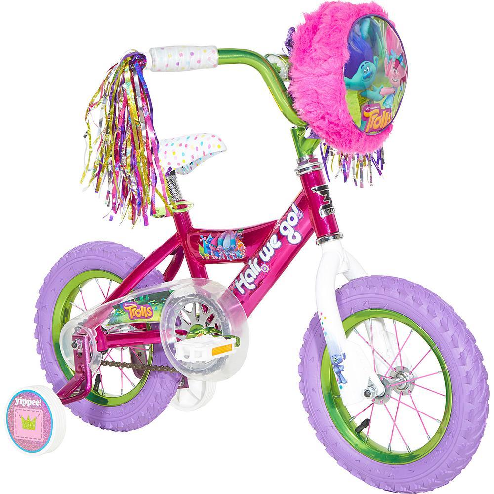 1a6fd57c7f3 Dynacraft 12 in. Girls Bike Dreamworks Troll-8008-50TJD - The Home Depot