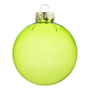 Northlight 3 25 In 80 Mm Shiny Green Clear Iridescent Christmas Ball Ornaments 4 Count 32913436 The Home Depot