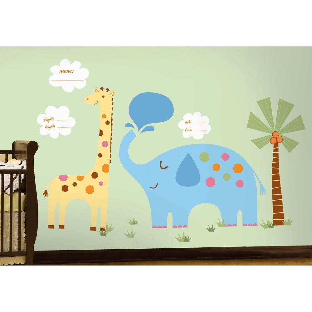 null 27 in. x 40 in. Baby 40-Piece Peel and Stick Giant Wall Decals
