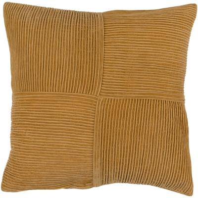 Leake Orange Solid Polyester 18 in. x 18 in. Throw Pillow