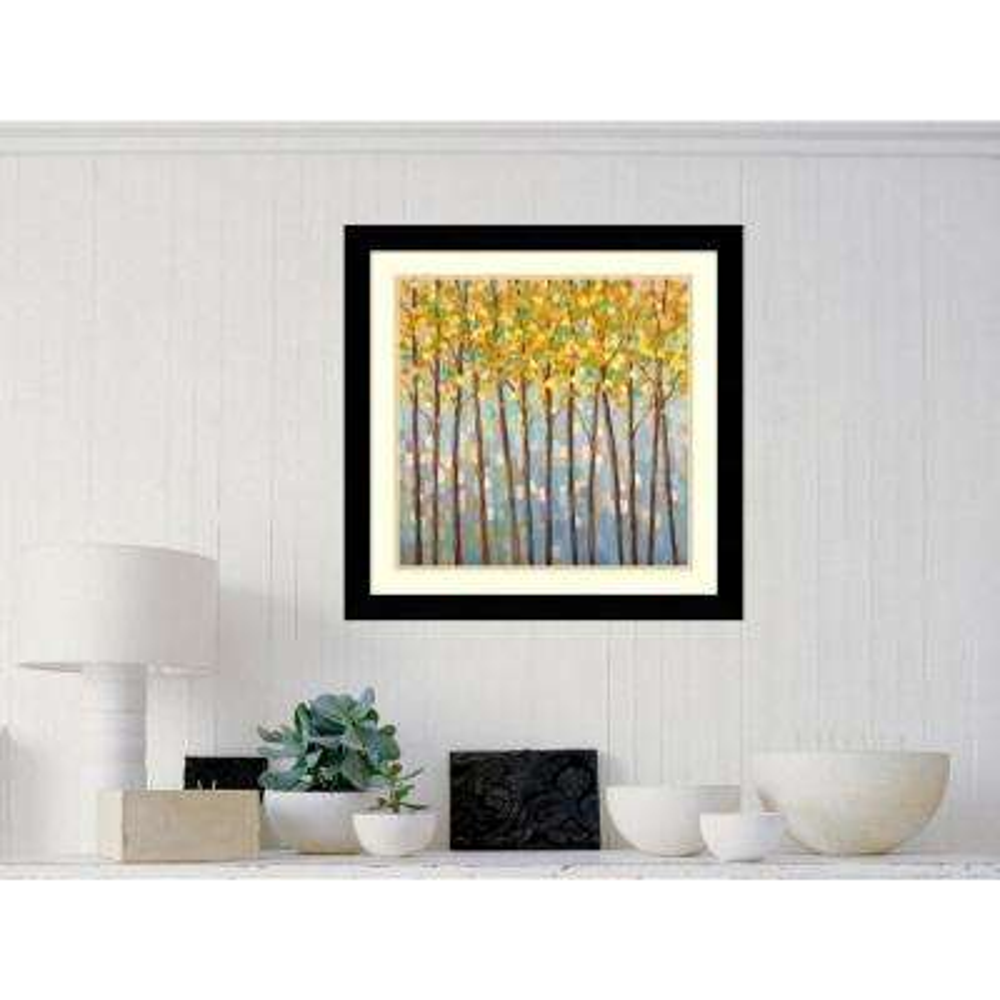 "27 in. H x 27 in. W ""Glistening Tree Tops"" by Libby Smart Framed Art Print"