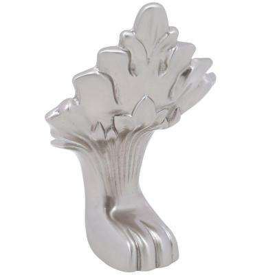 20 in. L x 7 in. W x 8 in. D Lion Paw Foot for Double Slipper Cast Iron Tub in Satin Nickel