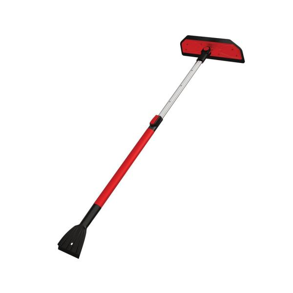 Yardwe Extendable Snow Brush Snow Removal Tool Windshield Ice Scraper Long Handle Tool Winter for Car Auto Trucks
