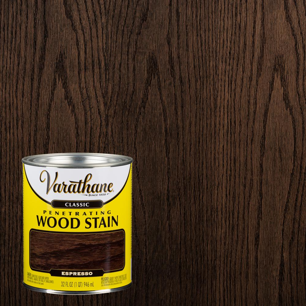 Varathane 1 Qt Espresso Classic Wood Interior Stain 339719 The Home Depot