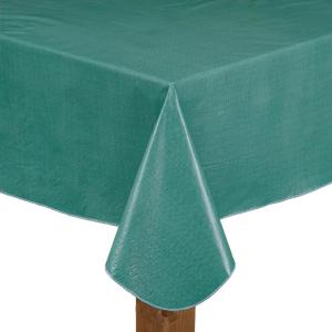 Lintex Caf Deauville 100 Vinyl Tablecloth 52 X70 In Teal