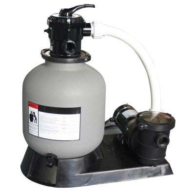 2.0 sq. ft. 19 in. Sand Filter and 1 HP Motor for Above Ground Pools