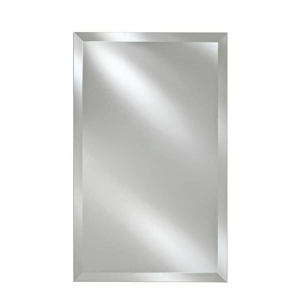 Afina Single Door 24 In X 30 Recessed Medicine Cabinet Basix Frameless Beveled