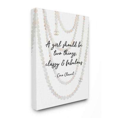 The Stupell Home Decor Collection 16 In X 20 In Classy And Fabulous Fashion Quote With Pearls By Amanda Greenwood Canvas Wall Art Agp 188 Cn 16x20 The Home Depot