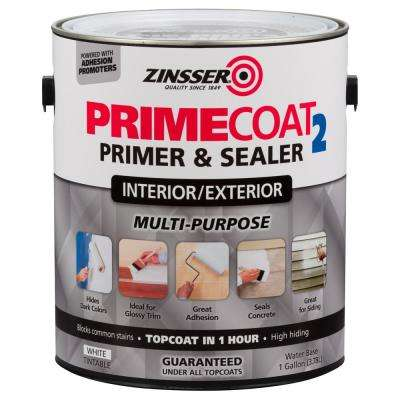 1 gal. PrimeCoat2 Water-Based White Interior/Exterior Primer (2-Pack)